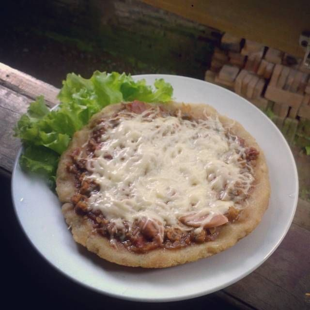 REsep Variasi Cemilan Roti Tawar Pizza Saus Barbeque