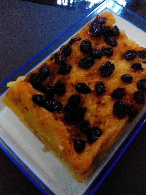 Resep Puding Roti Tawar Panggang Santan